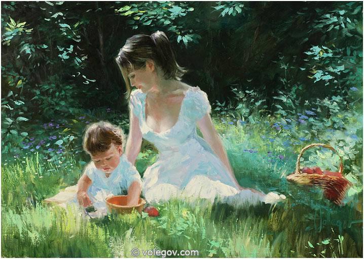 Oil Painting Of Cute Girl