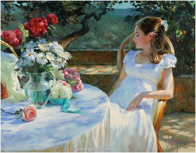 Little Girl Painting Modern Art