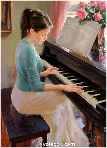 Volegov.com :: AT THE PIANO, painting,