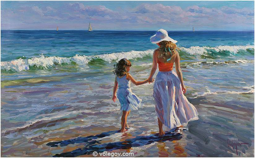 Volegov Com Along Seashore Painting