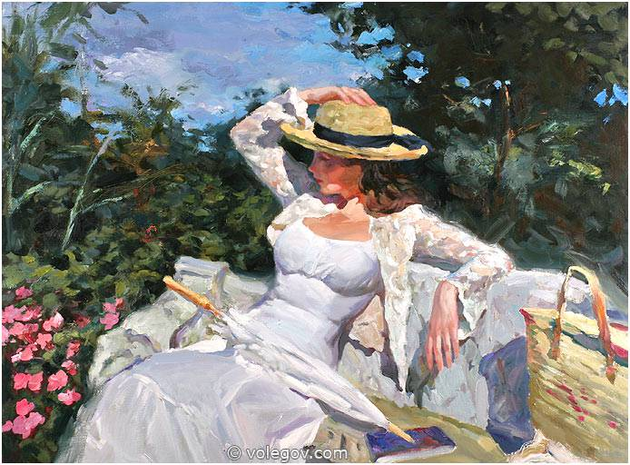 French Impressionist Oil Painting Figure